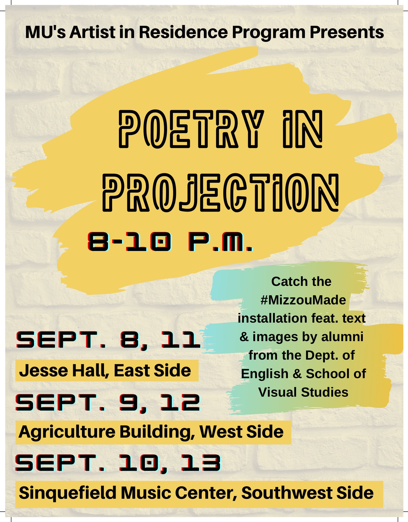 Peotry in Projection Flyer