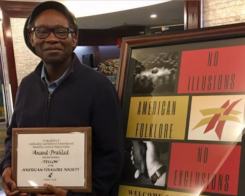Anand Prahlad named Society Fellow by the American Folklore Society